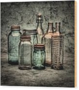 Bottles II Wood Print by Timothy Bischoff
