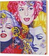 Bouquet Of Marilyn Wood Print by Rebecca Glaze