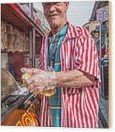 Bourbon Street - Lucky Dog And A Smile Wood Print by Steve Harrington