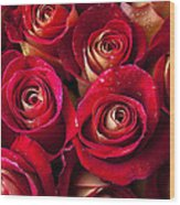 Boutique Roses Wood Print by Garry Gay