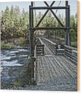 Bowl And Pitcher Bridge - Spokane Washington Wood Print by Daniel Hagerman