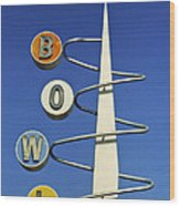 Bowl Sign Wood Print by Matthew Bamberg
