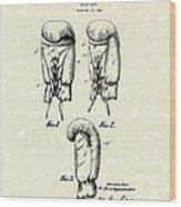 Boxing Glove 1925 Patent Art Wood Print by Prior Art Design