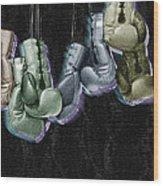 Boxing Gloves Wood Print by Tony Rubino