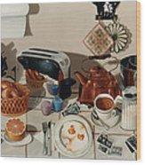 Breakfast With The Beatles - Skewed Perspective Series Wood Print by Larry Preston