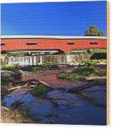 Bridgeton Covered Bridge 1 Wood Print by Marty Koch