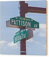 Broad And Pattison Where Philly Sports Happen Wood Print by Photographic Arts And Design Studio