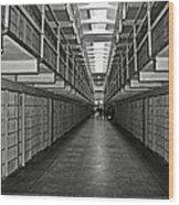 Broadway Walkway In Alcatraz Prison Wood Print by RicardMN Photography