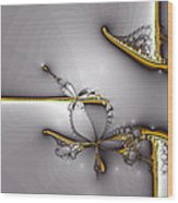 Broken Jewelry-fractal Art Wood Print by Lourry Legarde