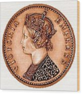 Bronze Empress Victoria Wood Print by Fred Larucci