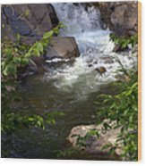 Brook Of Tranquility Wood Print by Karen Wiles