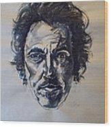 Bruce Springsteen Wood Print by Dan Engh