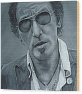 Bruce Springsteen IIi Wood Print by David Dunne