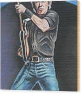 Bruce Springsteen  Wood Print by Melinda Saminski