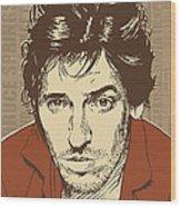 Bruce Springsteen Pop Art Wood Print by Jim Zahniser