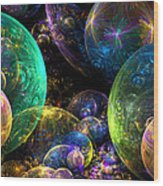 Bubbles Upon Bubbles Wood Print by Peggi Wolfe