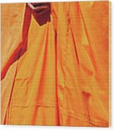 Buddhist Monk 02 Wood Print by Rick Piper Photography
