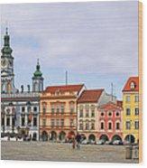 Budweis - Namesti Premysla Otakara II Wood Print by Christine Till