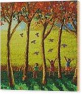 Bugaw Wood Print by Paul Hilario