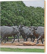 Bull Market Wood Print by Christine Till