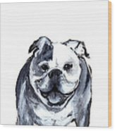 Bulldog  Wood Print by Barbara Marcus
