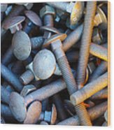 Bunch Of Screws Wood Print by Carlos Caetano