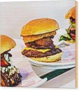 Burger Time Wood Print by Kelley King