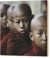 Burma Monks 2 Wood Print by David Longstreath