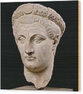 Bust Of Emperor Claudius Wood Print by Anonymous