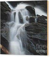 Buttermilk Falls Wood Print by Frank Piercy