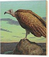 Buzzard Rock Wood Print by James W Johnson