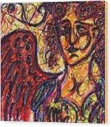 Byzantine Angel Wood Print by Rachel Scott