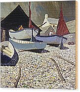 Cadgwith The Lizard Wood Print by Eric Hains