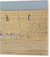 Caesarea Israel Ancient Colosseum Wood Print by Robert Birkenes