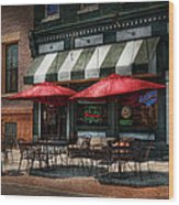 Cafe - Albany Ny - Mc Geary's Pub Wood Print by Mike Savad
