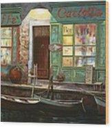 caffe Carlotta Wood Print by Guido Borelli