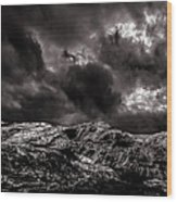 Calm Before The Storm Wood Print by Bob Orsillo
