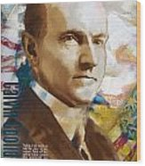 Calvin Coolidge Wood Print by Corporate Art Task Force