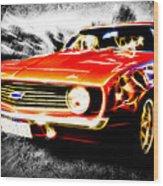 Camaro'd Wood Print by Phil 'motography' Clark