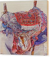Camel Saddle Wood Print by Dorothy Boyer