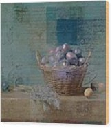 Campagnard - Rustic Still Life - J085079161f Wood Print by Variance Collections