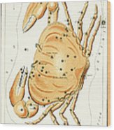 Cancer Constellation - 1825 Wood Print by Daniel Hagerman