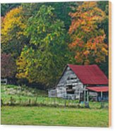 Candy Mountain Wood Print by Debra and Dave Vanderlaan