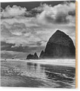 Cannon Beach On The Oregon Coast Wood Print by David Patterson