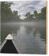 Canoeing The Ozarks Wood Print by Adam Romanowicz
