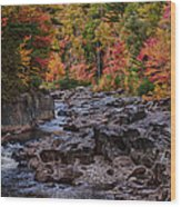 Canyon Color Rushing Waters Wood Print by Jeff Folger