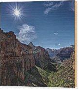 Canyon Overlook Wood Print by Jeff Burton