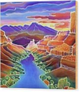 Canyon Sunrise Wood Print by Harriet Peck Taylor