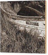 Cape Cod Skiff Wood Print by Luke Moore
