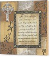 Caramel Scripture Wood Print by Debbie DeWitt